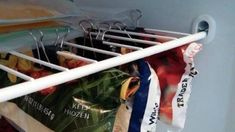 15 Ridiculously Smart Organization Hacks - The Krazy Coupon Lady Organisation Hacks, Trailer Organization, Freezer Organization, Storage Hacks, Kitchen Organization, Freezer Storage, Rv Storage, Storage Ideas, Organize Freezer