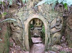 Gates to William Ricketts Sanctuary Art Sculpture, Garden Sculpture, Lily Munster, Collections Of Objects, The Secret World, Garden Park, Le Palais, Garden Architecture, Australia Living