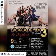 #Repost @dancefitacademy with @repostapp  #Repost @laacademiaoficial with @repostapp.  Ya es oficial #LaAcademiaElMusical La despedida este 9 de Abril en el Teatro Municipal de Valencia... No puedes dejar de ver su 3 era temporada #SalsaCasinoVenezuela #Salsa #SalsaCasino #BailaSalsaCasino #SalsaDance #DanceSalsa #DanceSalsaCasino #SiBailasSalsaCasinoEstasAqui