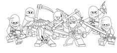 Lego Ninja Go Coloring Pages 7