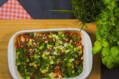 Das Rezept für Gefüllte Minipaprika mit Rinderhack und Chili mit allen nötigen Zutaten und der einfachsten Zubereitung - gesund kochen mit FIT FOR FUN