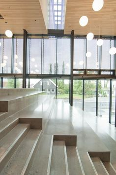 Gallery of Cultural Center Stjørdal / Reiulf Ramstad Arkitekter - 2 Concept Models Architecture, Library Architecture, Wooden Architecture, Stairs Architecture, Education Architecture, Interior Architecture, School Building Design, Auditorium Design, Tiered Seating