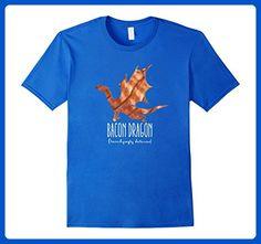 Mens Bacon Dragon Shirt Medium Royal Blue - Fantasy sci fi shirts (*Amazon Partner-Link)