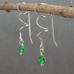 Sterling Silver and Birthstone Jewelry that Helps the Humane Society: Czech Firepolished Glass Earrings - Twist on Classic Earwires >> by Creating for Animals >> Neat! Easy-ish to make, too!