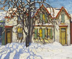Houses on Gerrard Street by Group of Seven's Lawren Harris