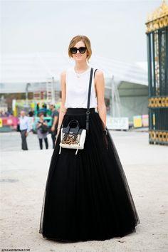Chiara Ferragni, bloguera de 'The blonde salad', con falda de tul
