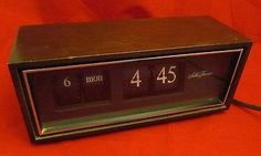 Vintage-Wooden-SETH-THOMAS-Flip-Number-Speed-Read-Day-Date-Electric-Clock-821