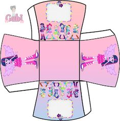 Kit Equestria Girls ( My Little Pony ) Equestria Girls, Festa Do My Little Pony, Diy Box, Printables, Minnie, Kids, 5 Years, Equestrian, Boxes