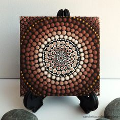 Earth Design Aboriginal Dot Art Painting by от RaechelSaunders