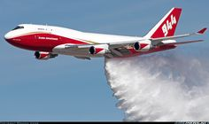 The Boeing 747 Supertanker demonstrating a water drop. Photo by Braden Hicks