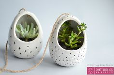 DIY Hanging succulent planters || LOVE these mod planters!!