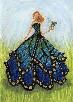 Fashion Illustration Collage, Dress Illustration, Fashion Illustrations, Butterfly Fashion, Butterfly Dress, Peacock Dress, Fashion Design Drawings, Fashion Sketches, Dress Sketches