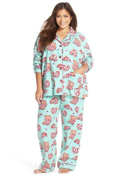 07751ae837 PJ SALVAGE - Print Flannel Pajamas (Plus Size) at Nordstrom Rack. Free  Shipping