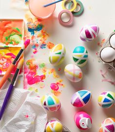 If you're dyeing Easter eggs with a toddler this year, embrace an afternoon of creative chaos with these five incredibly fun (and messy! Easter Egg Dye, Easter Egg Crafts, Egg Designs, Craft Projects For Kids, Egg Decorating, Ink Pads, Diy And Crafts, Fun, Washi Tape