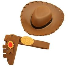 Disney Authentic Toy Story Sheriff Woody Cowboy Hat   Belt Boys Costume Set  NEW Juguetes De 50ae8476525