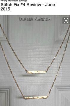 Cute bar necklace. Join stitch fix!