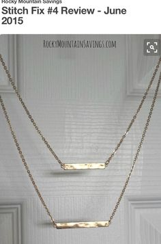 Cute bar necklace. Join stitch fix!