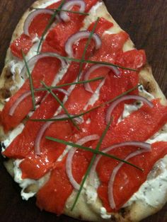 Smoked salmon flatbread is the perfect appetizer for a romantic dinner.    Here's the full recipe:    www.DateNightChef.com     Like It!