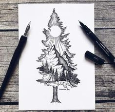 Except with birdseye as the mountain ❤ tattoo ideas idei tatuaje, t Sketch Tattoo Design, Sketch Design, Tattoo Designs, Art Drawings Sketches, Tattoo Sketches, Tattoo Illustrations, Sketch Drawing, Artwork Drawings, Tattoo Drawings Tumblr