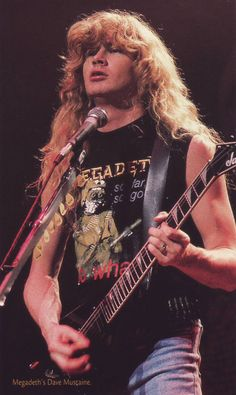 Photo of Dave Mustaine for fans of Dave Mustaine 21349989 Dave Mustaine Young, Nick Menza, David Ellefson, Famous Musicians, Music Pics, Band Photos, Heavy Metal Bands, Thrash Metal, Iron Maiden