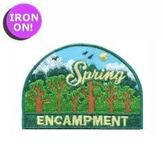 Spring Encampment Fun Patch! See MakingFriends.com for all of our Girl Scout Fun Patches