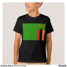 Zambia, flag tee shirts