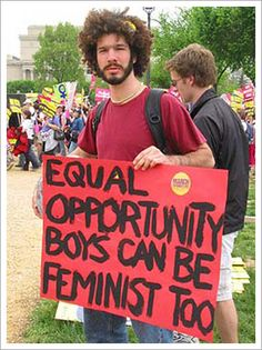 To be a feminist is not gender specific. But it is attractive. :)