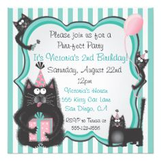how to create your own birthday invitations cat - Google Search