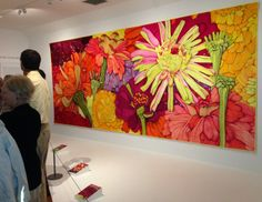 "Velda Newman--""Larger than Life""; contemporary quilt show at the Shelburne Museum 2013; http://www.veldanewman.com/index.html; http://shelburnemuseum.org/exhibitions/larger-than-life-quilts-by-velda-newman/"