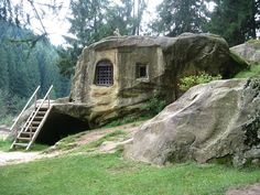 House carved into a stone by a 15th century Romanian monk http://ift.tt/1eHqNwf