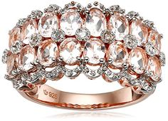 Rose Gold-Plated Silver Morganite and Diamond Accented Double Oval Row Band Ring, Size 7 Amazon Collection http://www.amazon.com/dp/B014XMNB9M/ref=cm_sw_r_pi_dp_cRM1wb1CJ7M62