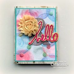 Dana created a fun card with some of her favorite Clearsnap and Tombow products. Click on the photo for the tutorial.