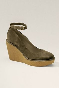 I should wear more high heels. Wedges would do the trick. Paxton Wedge Pump from Lands' End Canvas