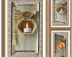 2193. Lamp Post Book Folding Pattern - Christmas
