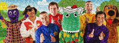 Wiggles Mosaic The Wiggles, Mosaic, Childhood, Memories, Fan, Kids, Painting, Children, Souvenirs