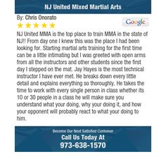 NJ United MMA is the top place to train MMA in the state of NJ!! From day one I knew this...