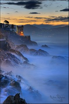 Genoa, Italy  enchanted waves (by Andras Gyorosi)