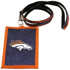 NFL Denver Broncos Beaded Lanyard with Nylon Wallet by Rico. $8.94. Going to the game or going out; keep your essentials secure with Rico Tag's Beaded Lanyard with Nylon Zippered wallet.  Double row of team color beads on lanyard with lobster claw to hold nylon wallet.  Wallet boasts officially licesned team logo with outlined team color beading.  Zippered closure.. Save 31%!
