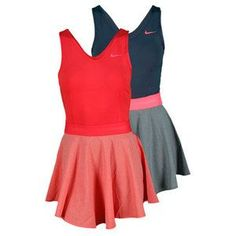 NIKE WOMENS HEATHERED V NECK TENNIS DRESS  so cute! Nike Womens Tennis Gear | Big Fashion Show tennis dresses