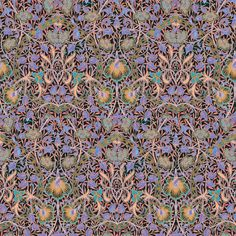 Released 9/23/15: Narcissus Violet fabric by amyvail on Spoonflower - custom fabric