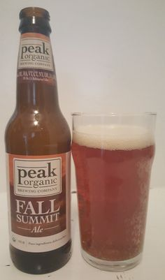 Peak Organic Fall Summit (Amber) Ale is 5.7 ABV, 64 IBU and pours clear reddish brown. The nose is earthy caramel malt, leading into the taste, caramel amber malt, finishing mildly bitter with earthiness throughout. This is a decent little brew here even if not outstanding, with a very moderate and drinkable mouthfeel and only the slightest touch of wateriness. Overall it feels super clean and pleasant. So maybe nothing I'd get again but solidly decent for a one and done.
