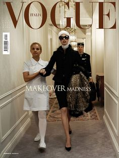 """""""Makeover Madness"""": Linda Evangelista, Missy Rayder, Julia Stegner, and Jessica Stam Get Plastic Surgery by Steven Meisel for Vogue Italia surgery editorial Vogue Editorial, Editorial Fashion, Vogue Photography, Vogue Magazine Covers, Cool Magazine, Fashion Cover, Women's Fashion, Steven Meisel, Mode Editorials"""