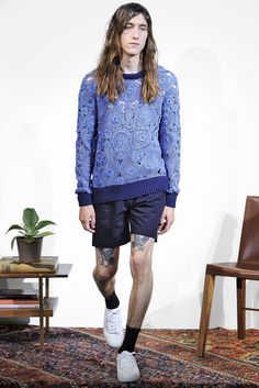 Seriously I am in love with the teardrop/paisley-shaped motifs. Orley Spring 2016 Menswear