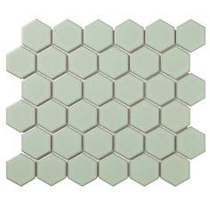 Mozaïektegel The Mosaic Factory Barcelona Hexagon mm Porselein Lichtgroen Stone Mosaic, Mosaic Glass, Mosaic Tiles, Wall Tiles, Ceramic Subway Tile, Glass Subway Tile, Douche Design, Tile Saw, Feature Tiles