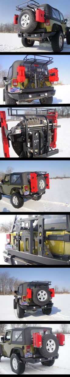 2007-2012 Jeep JK Full Width Signature Series Bumper w/ Generation 3 Tire Carrier