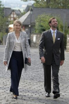 Prince Guillaume,  with his wife Stéphanie,