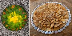 Dietmar Voorwold, a German artist based in Scotland, creates beautiful and temporary works of natural land art by arranging rocks, leaves and other natural materials into simple but beautiful geometric shapes and patterns.