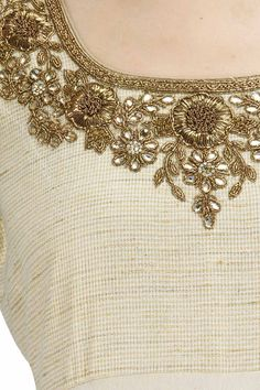 Discover thousands of images about Vikram Phadnis Zardosi Embroidery, Embroidery On Kurtis, Kurti Embroidery Design, Pearl Embroidery, Wedding Embroidery, Hand Work Embroidery, Couture Embroidery, Hand Embroidery Designs, Embroidery Dress