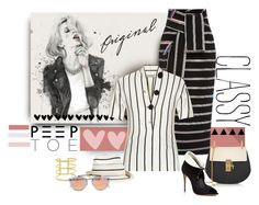 """""""Striped Delight Peeps"""" by michelletheaflack ❤ liked on Polyvore featuring Preen, Balenciaga, Chloé, Eugenia Kim, Artelier by Cristina Ramella, Salvatore Ferragamo, Westward Leaning, peeptoe and polyvorecontest"""