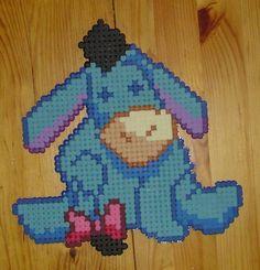 Hama Beads - Eeyore by acidezabs Melty Bead Patterns, Perler Patterns, Beading Patterns, Fuse Beads, Perler Beads, Pixel Pattern, Iron Beads, Animation, Eeyore